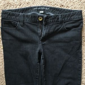 Black Banana Republic straight leg jeans size 6